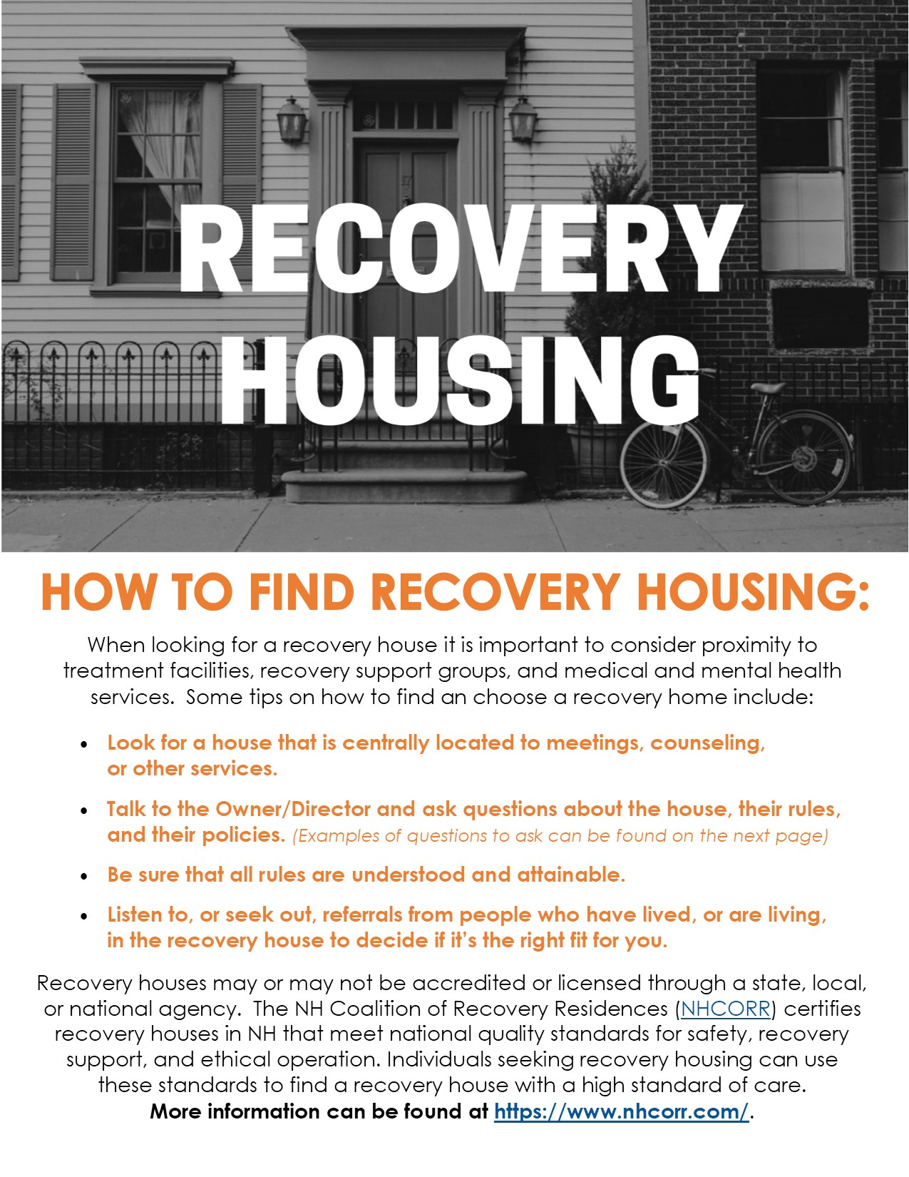 Recovery Housing in NH
